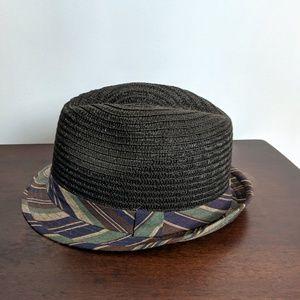 Fedora by Olsenboye I Dark Brown with Stripes